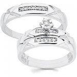 cz wedding ring sets
