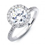 halo pave engagement ring settings