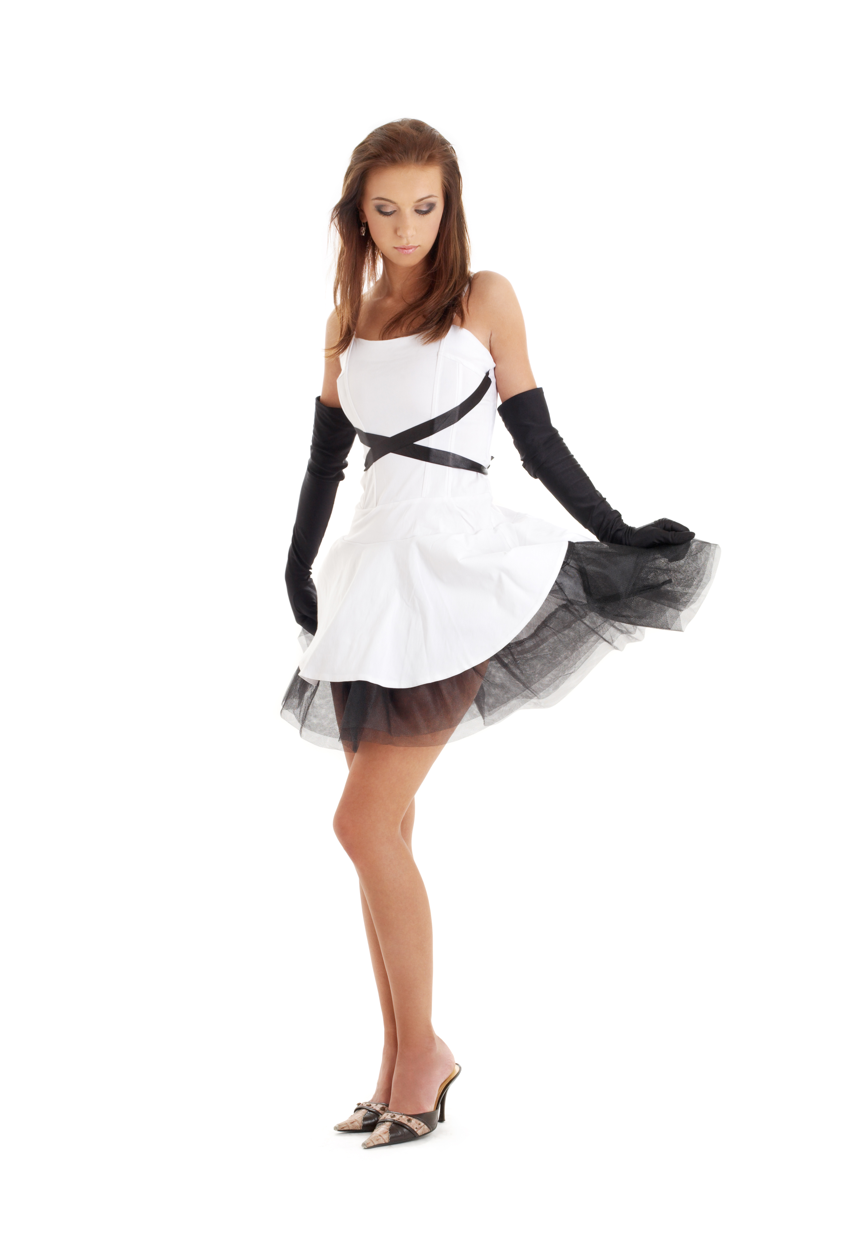 black and white mother dress